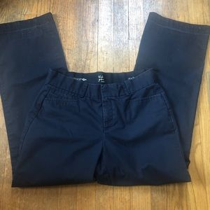Dockers Womens Navy Blue Khaki Metro Trouser Pants